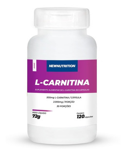 L-carnitina 500mg 120 Cápsulas Newnutrition