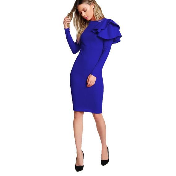 Vestido Fiesta Azul, Talla Xs A L