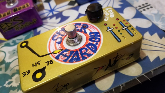 Pedal Zvex Super Hard On Hand Painted Pintado À Mão