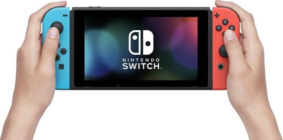 Nintendo Switch 32gb Neon Blue Neon Red Lacrado Novo