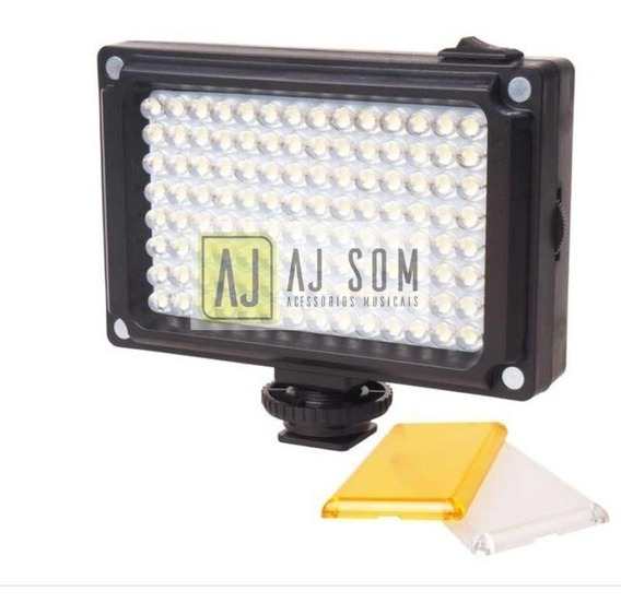 Iluminador 112 Leds A Pilha+filtros P/sony,canon,iPhone 7,8