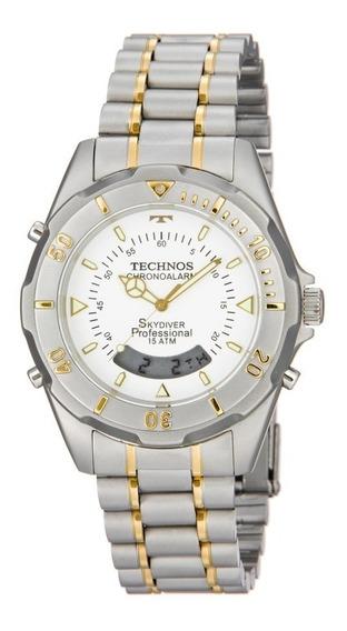 Relógio Technos Masculino Skydiver T20557/9b Misto / Bicolor