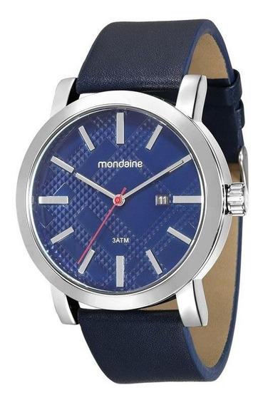 Relógio Mondaine Masculino Couro Azul 99083m0mvnh1