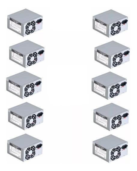 Kit 10 Fonte Pc Atx 230w Computador Pc 20+4pinos 2 Satas