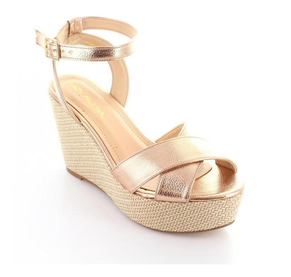 Sandalia Para Mujer Lady Paulina 88903-047943 Color Oro