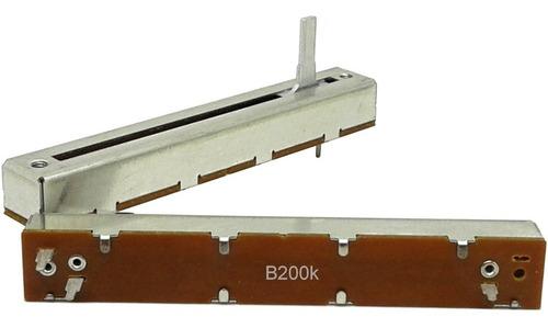Imagem 1 de 1 de Potenciômetro Deslizante Mono 200kb B200k B204 Percurso 60mm