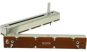Potenciômetro Deslizante Mono 200kb B200k B204 Percurso 60mm