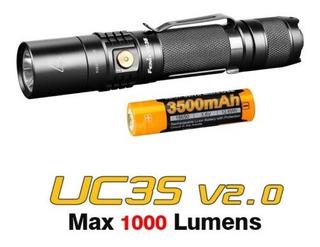 Lanterna Fenix Uc35 V2.0 Tactical + Bateria 3500 Envio Imediato!