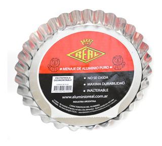 Tartera Molde Frola Rizada Desmontable N 24 Aluminio Real