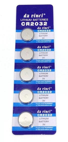 Pilha Bateria Lithium Da Vinci Cr 2032 3v Ctl 5 Unidades