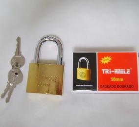 Caixa 6 Cadeados 50mm Dourado Triangle Uso Geral