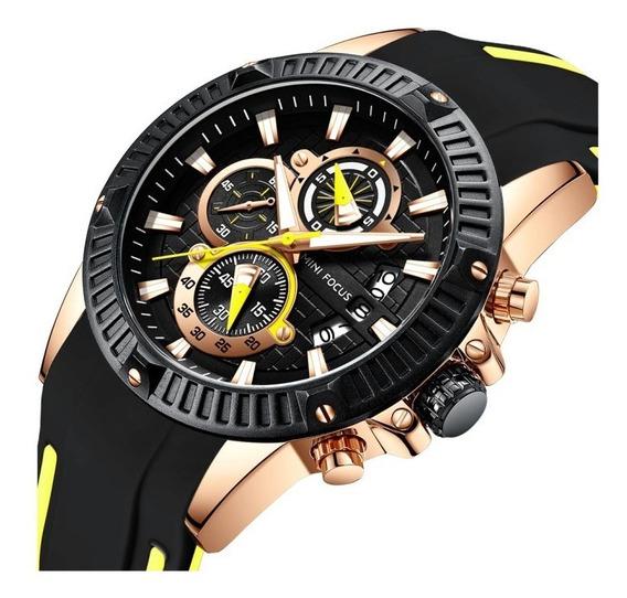 Reloj Para Hombre Minifocus Original Con Cronografo N/a 244g
