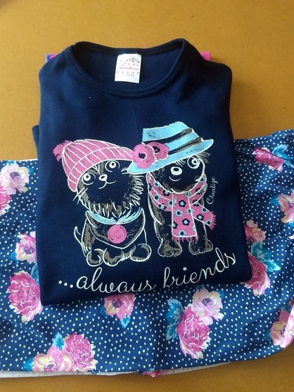 Pijama Mujer Dama Invierno Interlock100% Algodon Pantalon X