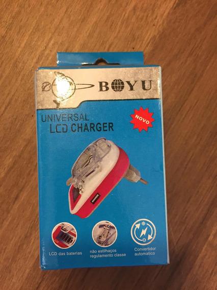 Carregador Universal Baterias Celular Digital Com Lcd E Usb