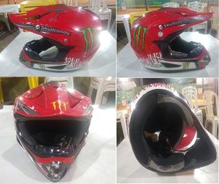 Capacete Para Ciclismo Motocross Dh Fr Fullface Mon Energy L