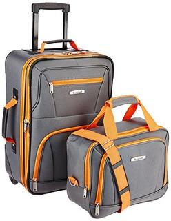 Rockland Luggage - Juego De 2 Piezas, Carbón De Leña, Talla