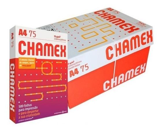 Lote De 10 Caixas De Papel Chamex A4.