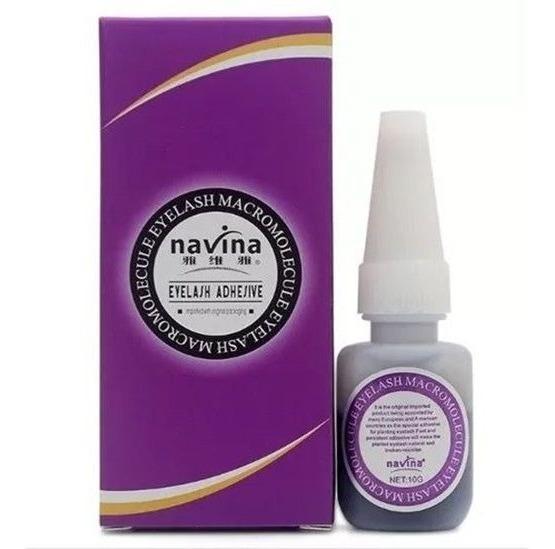 Cola Antialérgica Alongamento Cílios Postiços Premium Navina