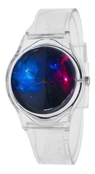 Relógios De Pulso Movimento De Quartzo Transparente Silicon