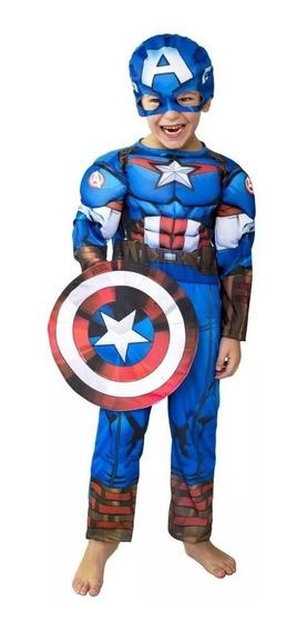 New Toys Disfraz Capitan America Musculos Talle 0 Playking