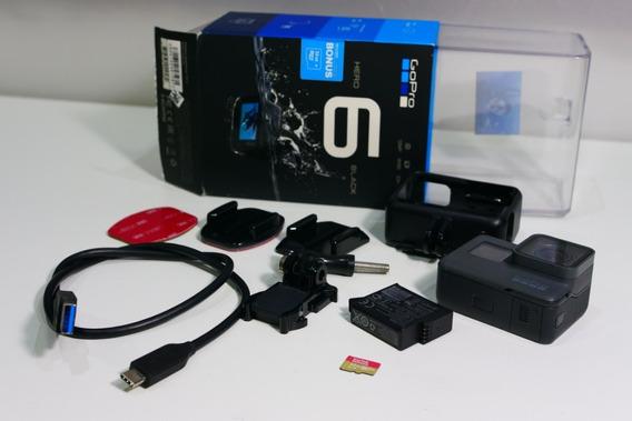Go Pro Hero 6 Black 4k60fps Microsd 32gb Extra!