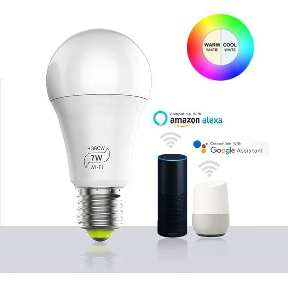 Lâmpada Led Smart Rgbcw Google Home E Alexia.