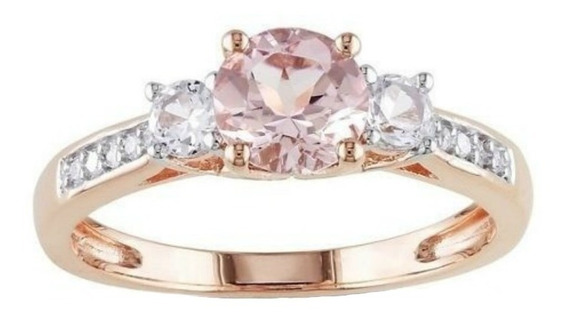 Anillo Oro Amarillo 14k 1.04ct Diamantes Naturales Y Zafiros