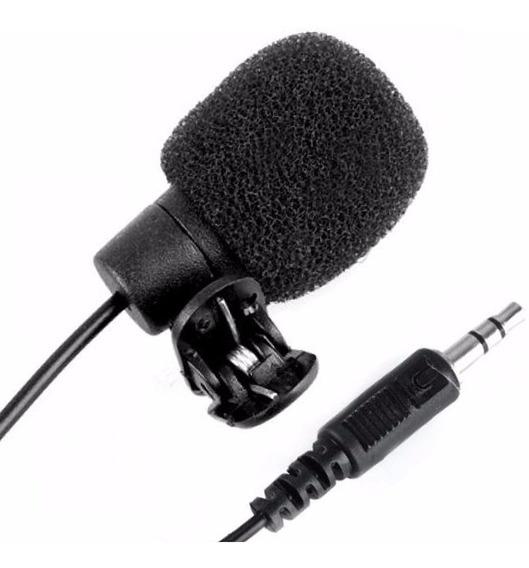 Mini Microfone Lapela Plug P2 Stéreo Ótima Captur