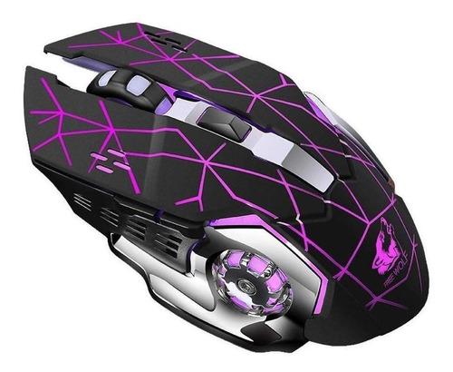 Imagen 1 de 1 de Mouse de juego inalámbrico recargable Free Wolf  X8 star black