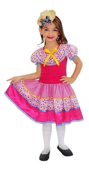 Vestido Festa Junina _ Caipira Filomena Infantil