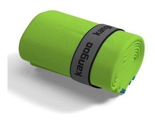 Toalla De Microfibra Kangoo Talla S Color Verde Con Azul