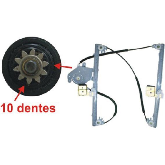 Máq.vidro Porta Diant. Ld S/m Fix.bosch 10 Dentes Santana