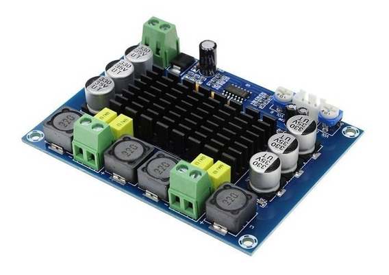 Amplificador 2x120w Rms Classe D Alta Eficiência 4ohm 12/24v 4a Tpa3116