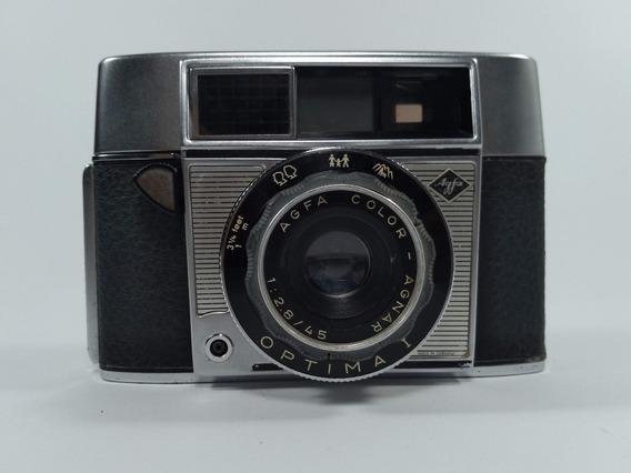 Câmera Máquina Fotográfica Antiga Agfa Optima 1