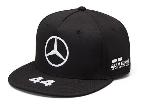 Gorra Lewis Hamilton Mercedes Amg Petronas F1 Plana 2019
