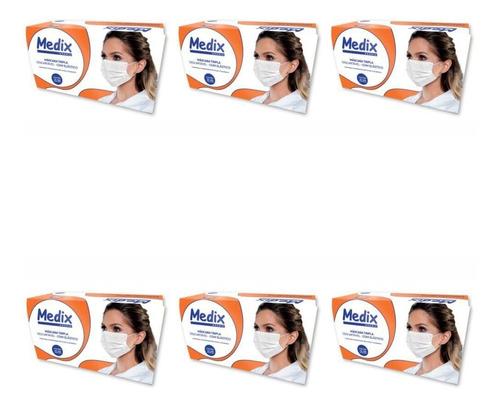 Medix Máscara Cirúrgica C/ Elástico C/50 (kit C/06)