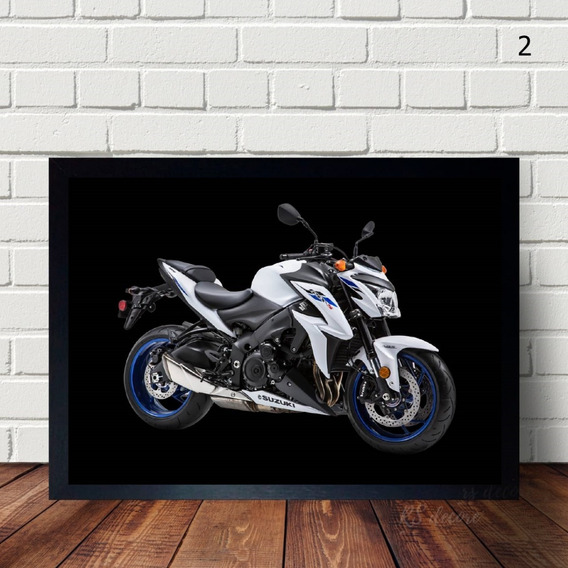 Quadro Decorativo Com Moldura Da Motocicleta Gsx S1000
