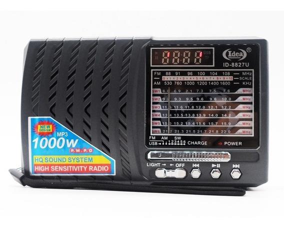 Radio Vintage Fm Am Usb Sd Retro Portatil Com Lanterna Recar