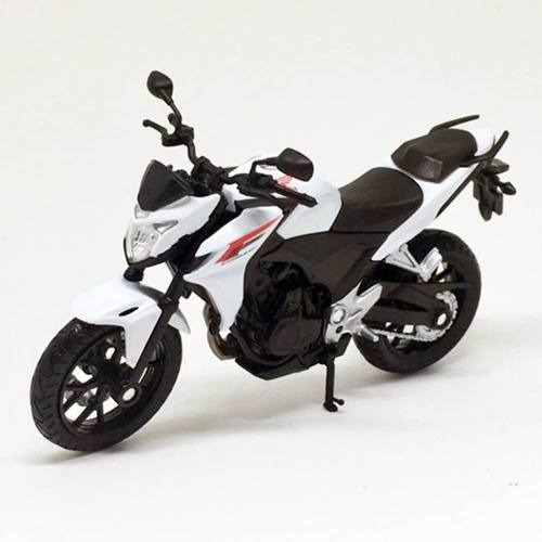 Miniatura Moto Honda Cb500f 2014 Branca 1:18 Welly 060435