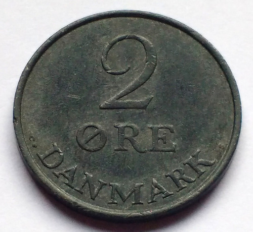 Moneda De Dinamarca, 2 Ore 1959.