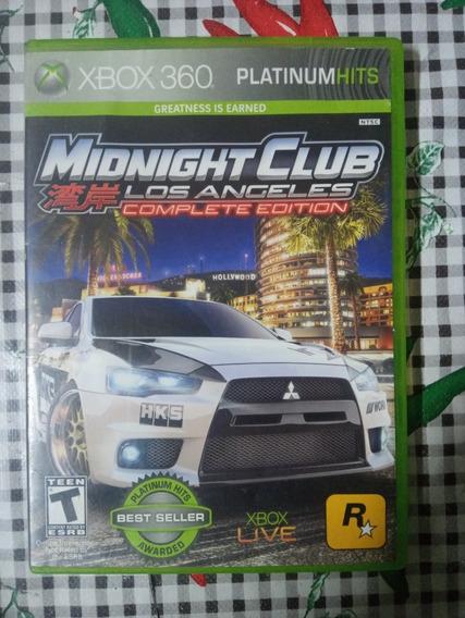 Midnight Club Los Angeles Xbox 360 Original Em Midia Fisica.