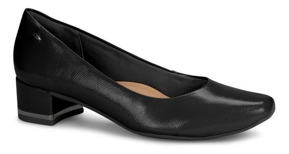 Sapato Feminino Dakota G1081 Preto Salto Baixo Verniz 2019