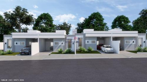 Casa Para Venda Em Ponta Grossa, Orfãs, 3 Dormitórios, 1 Suíte, 2 Banheiros, 2 Vagas - _1-1746225