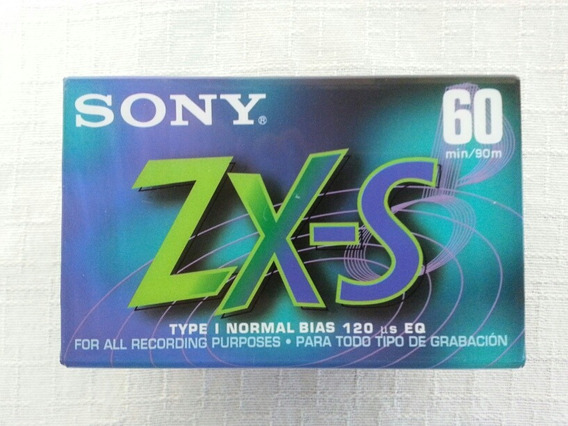Lote 2 Fitas Cassete Sony Zx-s 60 Minutos Lacradas