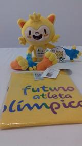 Mascote Vinicius Jogos Rio 2016 + Camisa Infantil Atleta Rio