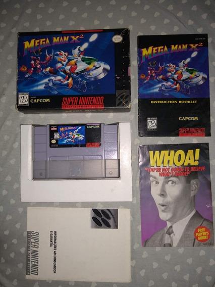 Mega Man X2 Original Snes Cib Com Caixa