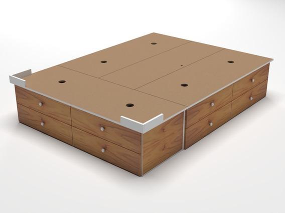 Base Box Sommier 12 Cajones King Size Somier 2,00 X 1,80