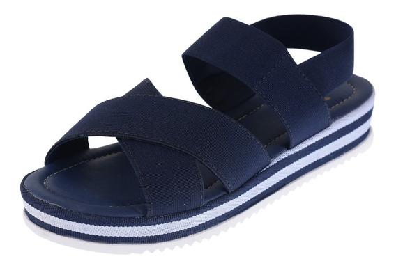 Sapato Feminino Sandalia Flatform Tratorada Anabela Tamanco