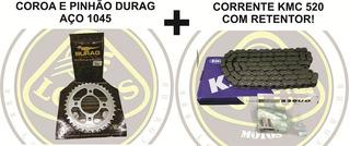 Kit Relação Dafra Next 250 Durag 1045z +kmc C/retentor C/nf
