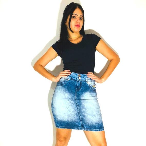 Kit 8 Saias Evangélicas Jeans Com Lycra Atacado Revenda